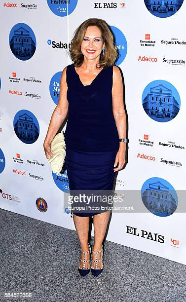 Ana Rodriguez attends the concert of Manu Carrasco at Royal Theatre on July 28 2016 in Madrid Spain