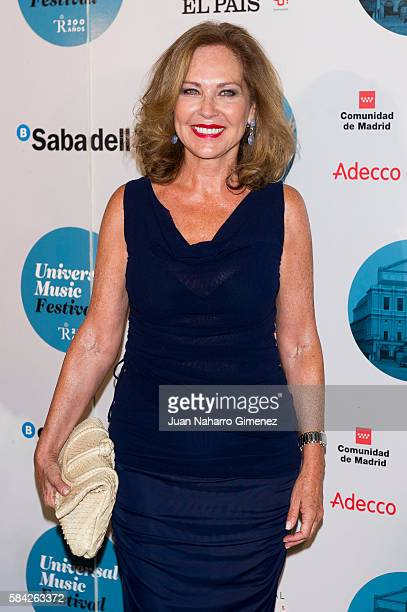 Ana Rodriguez Mosquera attends Manuel Carrasco concert at Royal Theater July 28 2016 in Madrid Spain