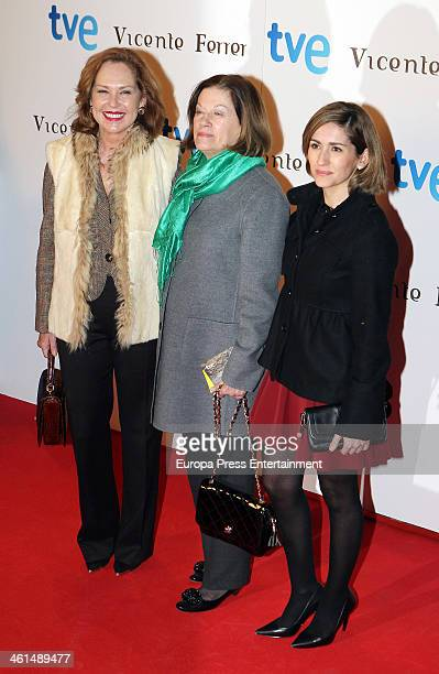 Ana Rodriguez Natalia Figueroa and Alejandra Martos attend the 'Vicente Ferrer' premiere at the Callao cinema on January 8 2014 in Madrid Spain