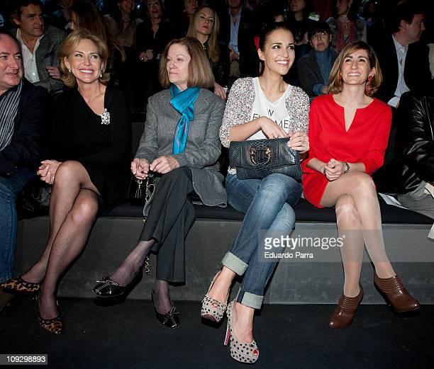Ana Rodriguez Natalia Figueroa Paula Echevarria and Alejandra Martos attend the Roberto Torreta fashion show during the Cibeles Madrid Fashion Week...