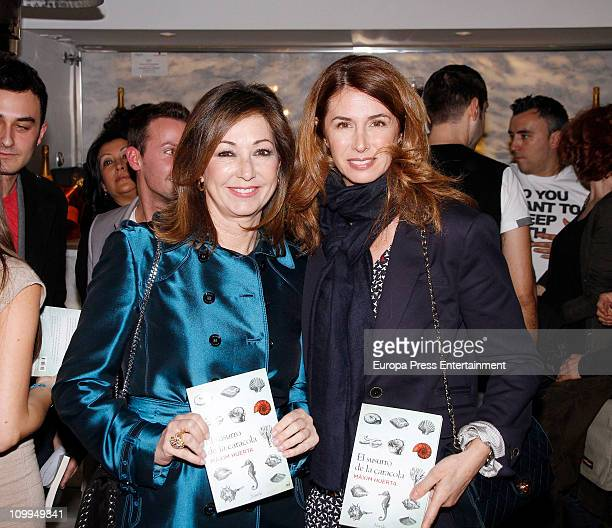 Ana Rosa Quintana and Ana Garcia Sineriz attend the launch of the book 'El susurro de la caracola' written by the journalist and TV presenter Maxim...