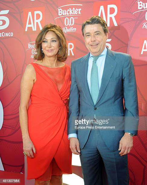 Ana Rosa Quintana and Ignacio Gonzalez attend El Programa de Ana Rosa's 10th anniversary party on June 26 2014 in Madrid Spain