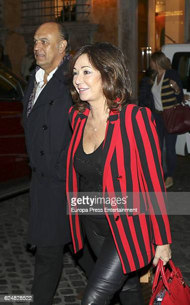 Ana Rosa Quintana and Juan Munoz are seen on November 18 2016 in Rome Italy
