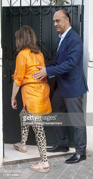 Ana Rosa Quintana and Juan Munoz attend Ana Rosa's party on June 27 2013 in Madrid Spain
