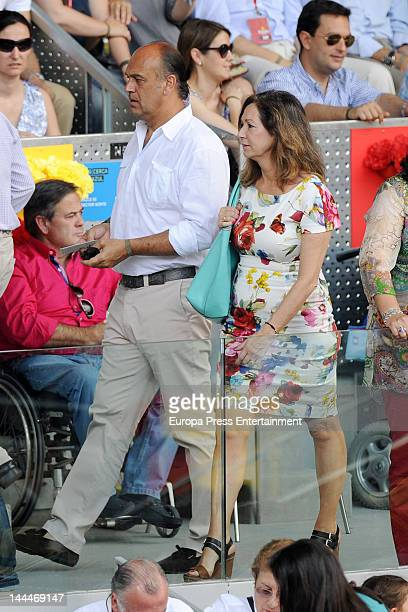 Ana Rosa Quintana and Juan Munoz attend Mutua Madrilena Madrid Open on May 13 2012 in Madrid Spain
