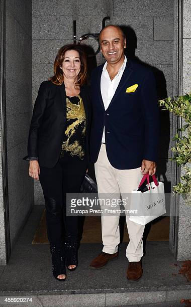 Ana Rosa Quintana and Juan Munoz attend the Fiona Ferrer's 40th Birthday at Loft 39 restaurant on September 21 2014 in Madrid Spain