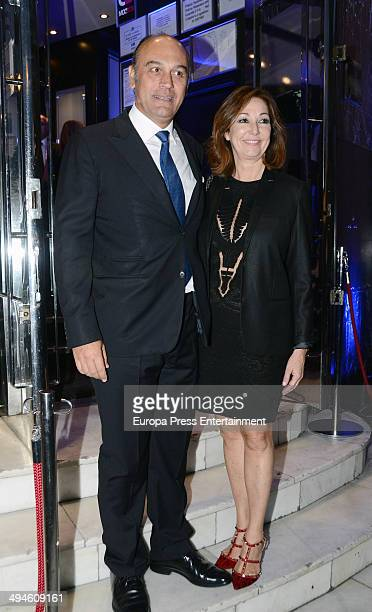 Ana Rosa Quintana and Juan Munoz attend the party for Publiespana 25th anniversary on May 29 2014 in Madrid Spain