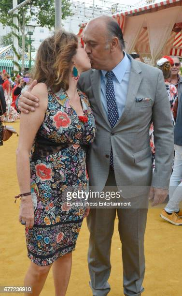 Ana Rosa Quintana and Juan Muñoz attend 2017 April's Fair on April 30 2017 in Seville Spain