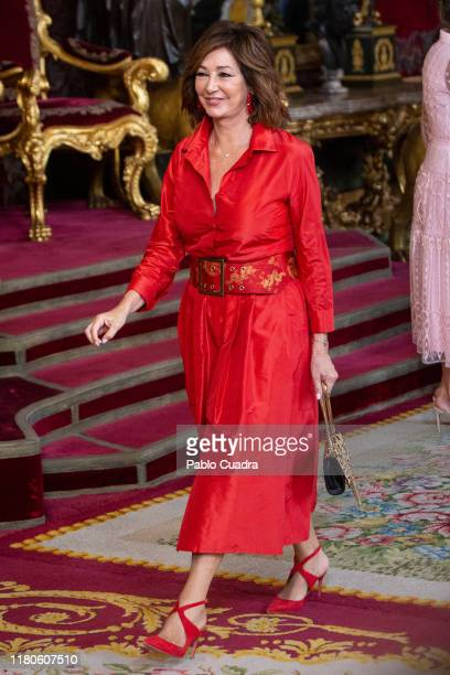 Ana Rosa Quintana attends a reception at the Royal Palace during the National Day on October 12 2019 in Madrid Spain