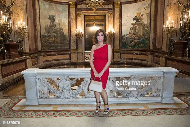 Ana Rosa Quintana attends 'Eisenhower Fellows Association' Awards at 'Casa de America' on June 30 2016 in Madrid Spain