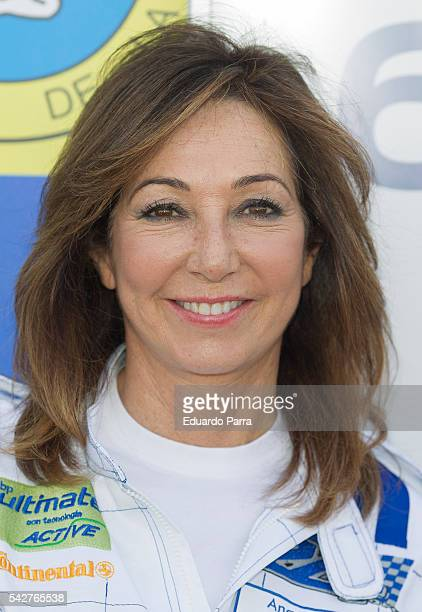 Ana Rosa Quintana attends the '24 horas ford' race at Jarama circuit on June 24 2016 in Madrid Spain