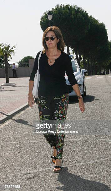 Ana Rosa Quintana attends the funeral chapel for the journalist Concha Garcia Campoy at La Paz Morgue on July 12 2013 in Madrid Spain