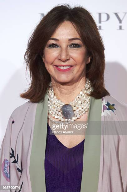 Ana Rosa Quintana attends The Global Gift Gala at the ThyssenBornemisza museum on March 22 2018 in Madrid Spain