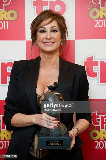 Ana Rosa Quintana attends 'TP de Oro' Television Awards 2012 at the Canal Theater on February 13 2012 in Madrid Spain