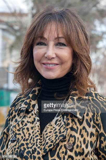 Ana Rosa Quintana celebrates her 60'th birthday on January 12 2016 in Madrid Spain