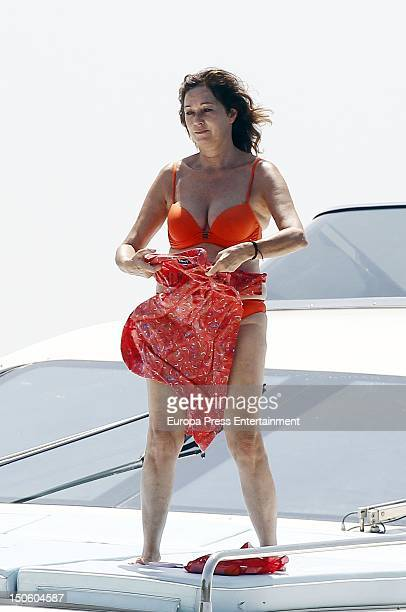 Ana Rosa Quintana is seen on August 1 2012 in Palma de Mallorca Spain