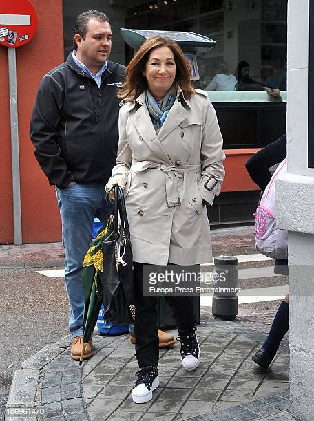 Ana Rosa Quintana is seen on October 25 2013 in Madrid Spain