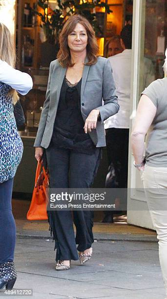 Ana Rosa Quintana is seen on September 18 2015 in Madrid Spain