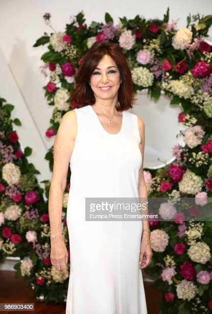 Ana Rosa Quintana poses during the balance of the 14th season of 'El Programa de Ana Rosa' tv programme on June 28 2018 in Madrid Spain
