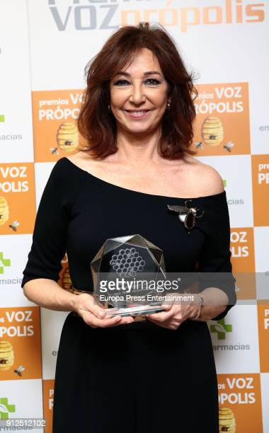 Ana Rosa Quintana receives Propolis Award on January 30 2018 in Madrid Spain