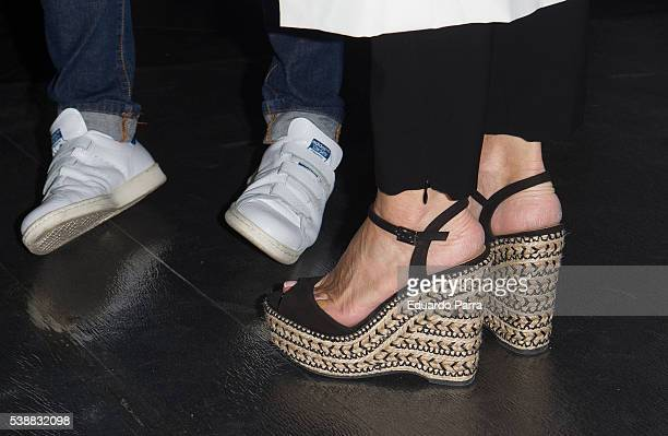 Ana Rosa Quintana shoes detail attends the 'Lifestyle awards' photocall at Barcelo theatre on June 8 2016 in Madrid Spain