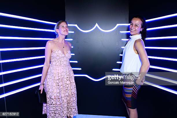 Ana Rosa Thomae and Melanie Courbet at the Aby Rosen and Dom Perignon Celebrate Art Basel Miami Beach After Party at Wall at W Hotel on December 1...
