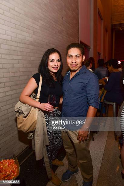 Ana Ruiz and Rafael Luna attend HBO Clinica De Migrantes screening at The Franklin Institute Science Museum on September 19 2017 in Philadelphia...