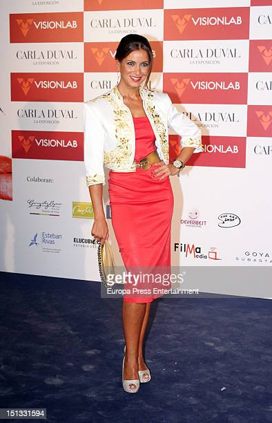 Ana Ruiz attends the painting exhibition of Carla Duval at Casa de Vacas on September 5 2012 in Madrid Spain