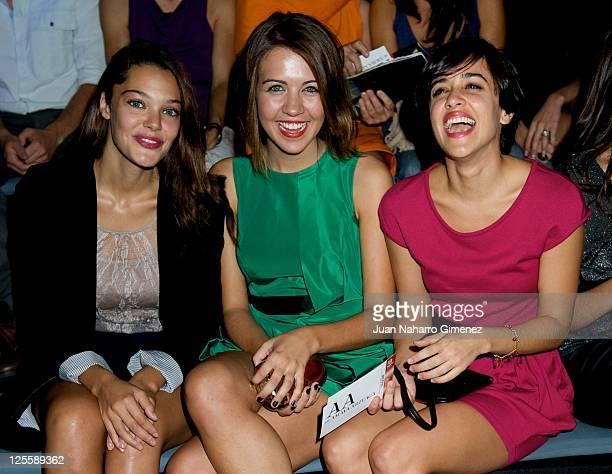 Ana Rujas Andrea Guasch and Macarena Garcia attend Amaya Arzuaga show during Cibeles Fashion Week S/S 2012 at Ifema on September 18 2011 in Madrid...