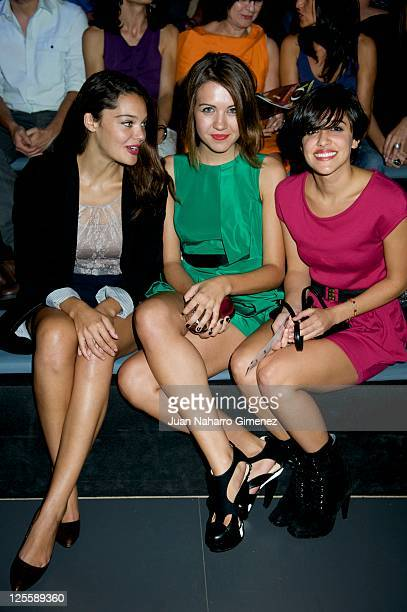 Ana Rujas Andrea Guasch and Macarena Garcia attends Amaya Arzuaga show during Cibeles Fashion Week S/S 2012 at Ifema on September 18 2011 in Madrid...