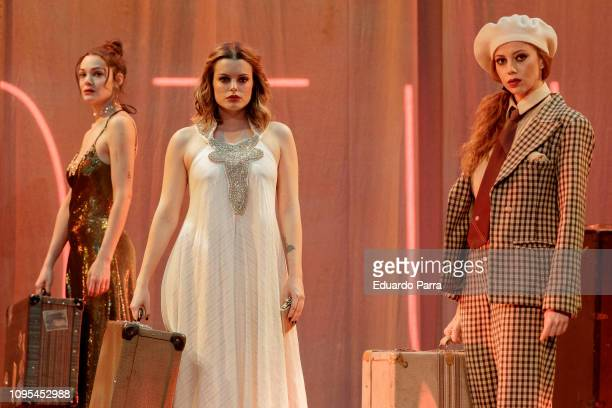 Ana Rujas Lorena de Orte and Adriana Torrebejano attend the 'Muerte en el Nilo' theatre play rehearsal at Amaya theatre on January 17 2019 in Madrid...