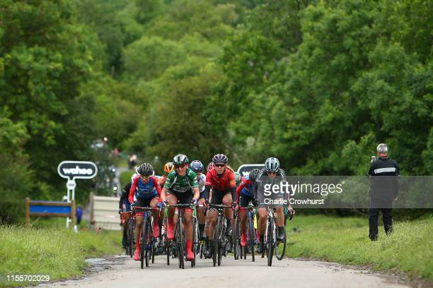 Ana Santesteban of Spain and Team WNT Rotor Pro Cycling / Lisa Brennauer of Germany and Team WNT Rotor Pro Cycling OVO Energy Green leader jersey /...