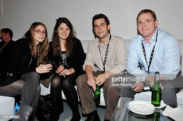 Ana Santillana Amaya Goni Bruno Pineiro and Javier Gorriz attend Filmmakers' Lounge Happy Hourduring the 35th Toronto International Film Festival at...