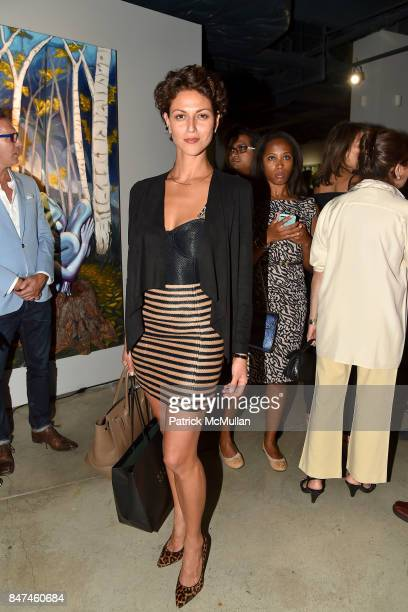 Ana Savoy attends IV New York Gallery Grand Opening Exhibition on September 14 2017 in New York City