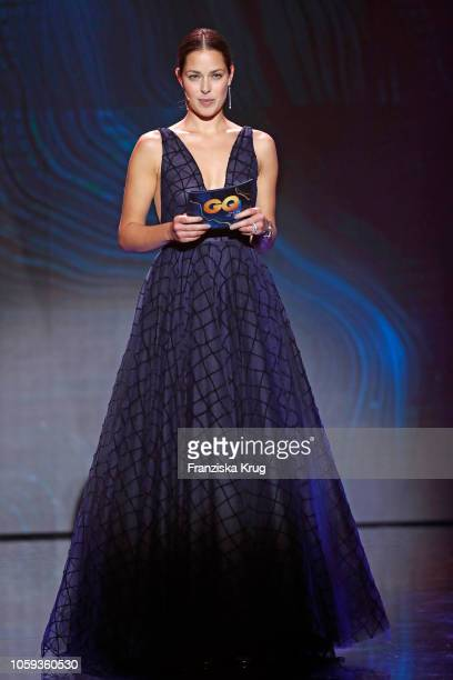 Ana Schweinsteiger is seen on stage during the GQ Men of the Year Award show at Komische Oper on November 8 2018 in Berlin Germany
