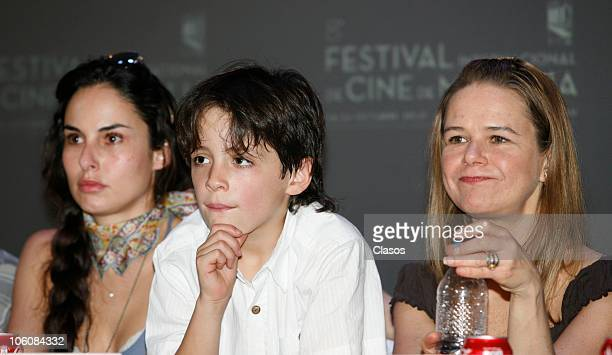 Ana Serradilla and Naelea Norvind of the movie La Otra Familia, during a press conference as part of the 8th Morelia International Film Festival on...