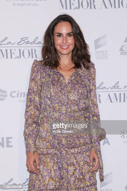 Ana Serradilla attends 'La Boda de Mi Mejor Amigo' red carpet at Cinemex Antara Polanco on February 7 2019 in Mexico City Mexico