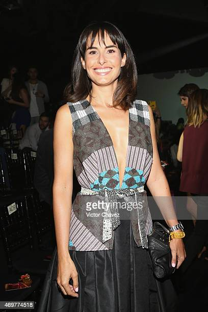 Ana Serradilla attends the first day of MercedesBenz Fashion Week México Autumn/Winter 2015 at Campo Marte on April 14 2015 in Mexico City Mexico