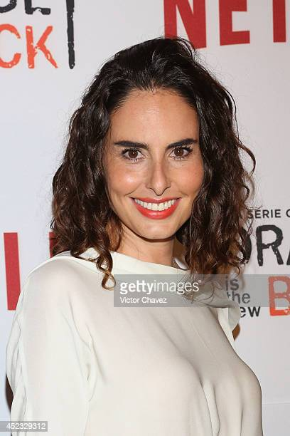 Ana Serradilla attends the Orange Is The New Black second season red carpet at Fotomuseo Cuatro Caminos on July 17 2014 in Mexico City Mexico