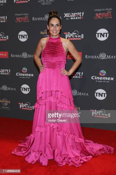 Ana Serradilla attends the red carpet of the Premios Platino 2019 at Occidental Xcaret Hotel on May 12 2019 in Playa del Carmen Mexico