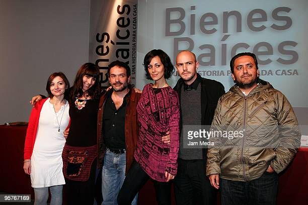 Ana Sofia Clerici Fabiana Perzabal Moises Ortiz Urquidi Gabriela de la Garza Marcel Ferrer and Alfredo Marron pose for a photograph during the press...