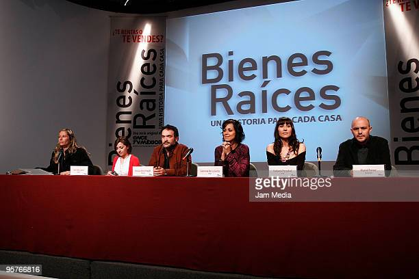 Ana Sofia Clerici Moises Ortiz Urquidi Gabriela de la Garza Fabiana Perzabal and Marcel Ferrer during the press conference of the new Tv series named...