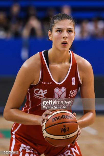 Ana Tadic of Mondeville during the Women's League match between Villeneuve d'Ascq and Mondeville of the LFB Open 2018 on October 13 2018 in Paris...
