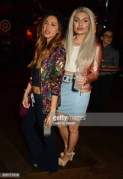 Ana Tanaka and guest attend Fashion Targets Breast Cancer's 20th Anniversary Party at 100 Wardour St on April 12 2016 in London England