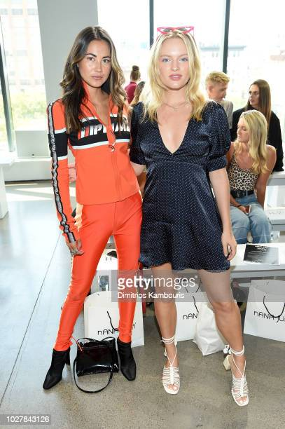 Ana Tanaka and Isabella Farrell attend the Nana Judy front row during New York Fashion Week The Shows at Gallery II at Spring Studios on September 6...