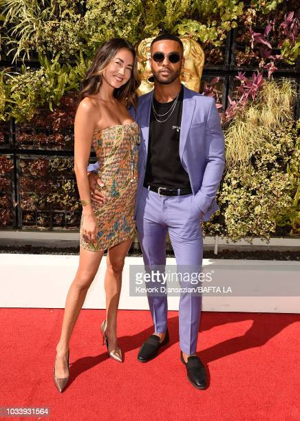 Ana Tanaka and Lucien Laviscount attend BAFTA Los Angeles BBC America TV Tea Party 2018 at The Beverly Hilton Hotel on September 15 2018 in Beverly...