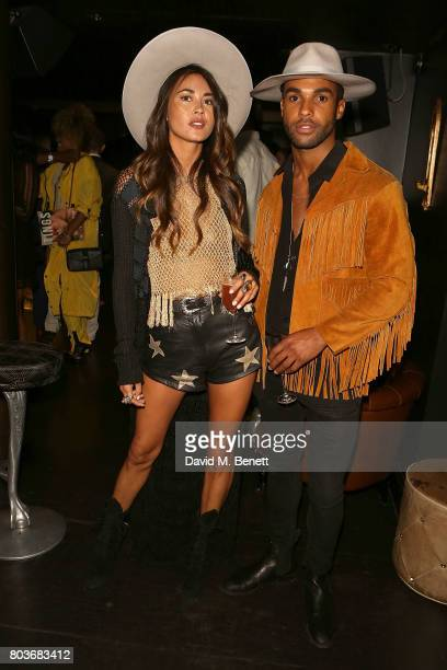 Ana Tanaka and Lucien Laviscount attend the launch of new magazine TINGS London at Mews of Mayfair on June 29 2017 in London England