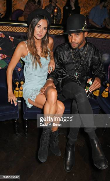 Ana Tanaka and Lucien Laviscount attend the Rockins party to celebrate the Rockins Selfridges PopUp Shop at Park Chinois supported by Ciroc on July 4...
