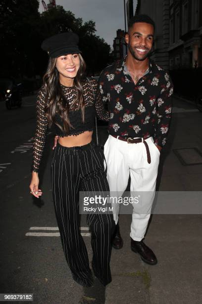 Ana Tanaka and Lucien Laviscount seen attending Mot Summer House launch party on June 7 2018 in London England