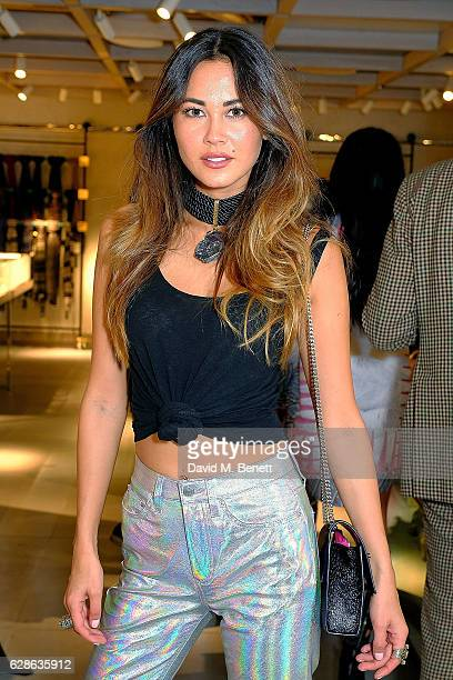 Ana Tanaka attends as Taylor Morris Eyewear and The Morgan Motor Company present their first collaboration at Harvey Nichols on December 8 2016 in...